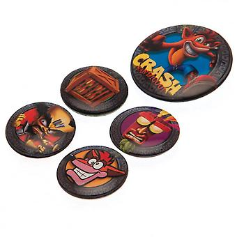 Offizielles Crash Bandicoot Button Badge Set (Pack Of 5)