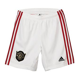 2019-2020 Man Utd Adidas Home Shorts alb (copii)