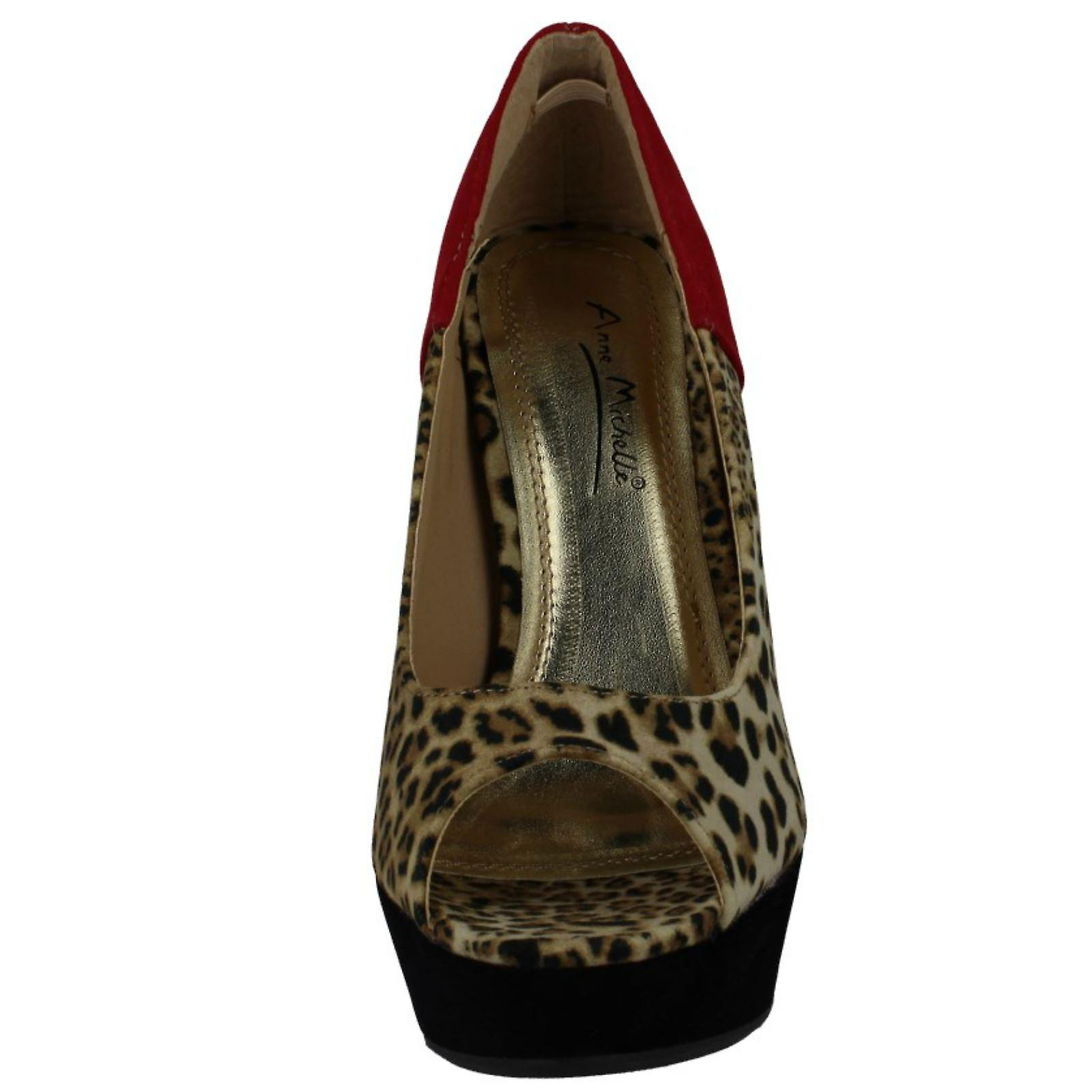 Ladies Anne Michelle Leopard Print Heel