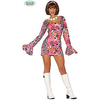 Kobiety stroje Disco sukienka z szerokimi rękawami