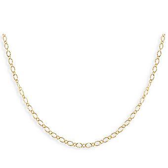 Diamant forgyldt kæde 45cm