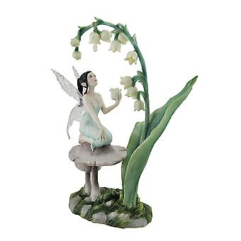 Lily of the Valley Flower Fairy Statue by Artist Rachel Anderson 11 Inch