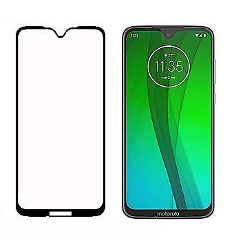 Solide Hartglas Motorola Moto G7/G7 Plus Displayschutzfolie schwarz