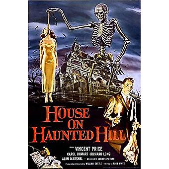 Poster-huis op Haunted Hill-Wall Art P3198