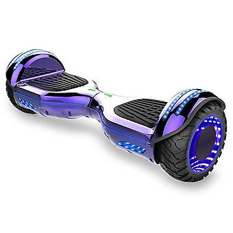 E9 Hoverboard - UL Certified Self Balancing Scooter Build with Bluetooth Speaker and LED lighting Wheels Purple