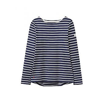 Joules Harbour camisola das mulheres Jersey-Navy Cream Stripe