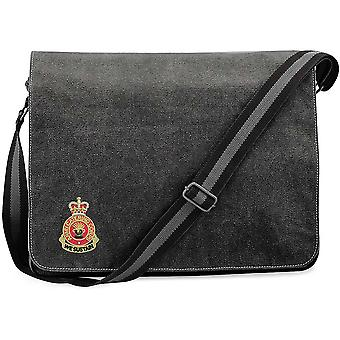 Army Catering Corps - Licensed British Army Ricamato Vintage Canvas Spedizione Messenger Bag