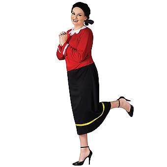 Olive Oyl Oil Popeye Licensed Dress Women Costume Plus