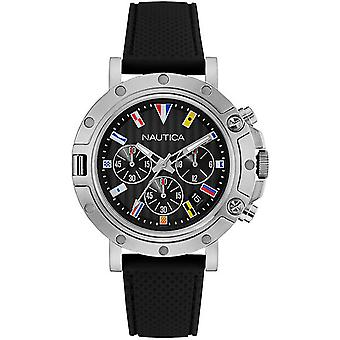 nautica- nst 800 chrono flags Quartz Analog Man Watch with NAD17527G Rubber Bracelet