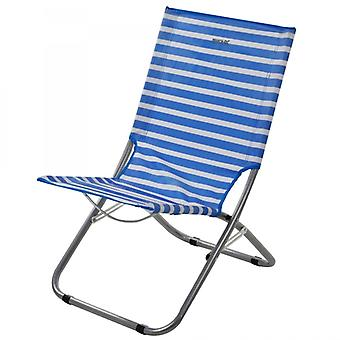 Regatta Kruza Folding Beach Lounger French Blue/White
