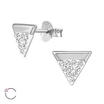 Driehoek Crystal van Swarovski®-925 sterling zilver ear studs-W39040X