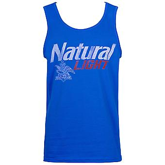 Natural Light Distressed Logo Blue Tank Top