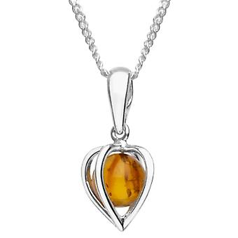 InCollections - Chain with woman pendant with silver amber Sterling 925 - 42 cm