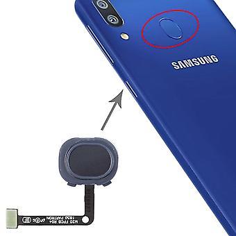 Senzor de amprentă pentru Samsung Galaxy M20 negru partea de schimb Flex cablu