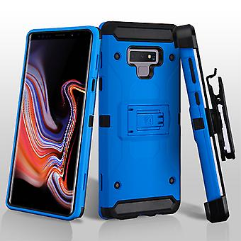 ASMYNA Blue/Black Kinetic Hybrid Protector Cover Combo (w/ Holster) for Galaxy Note 9