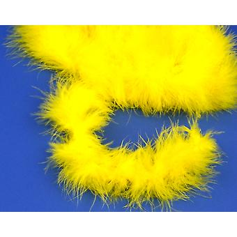 2m Yellow Marabou Feather Trim for Crafts
