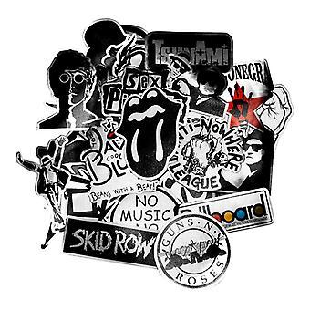 50x Stickers, music