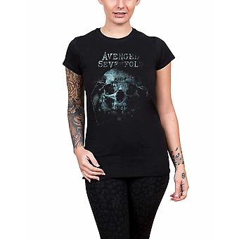 Avenged Sevenfold T Shirt Galaxy band logo new Official Womens Skinny Fit Black