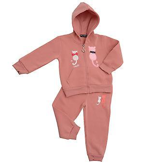 Kids Jogging Suit Girls House Suit Cats Ribbon Hoodie Sweat Pants 2 piece Set