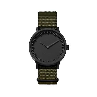Leff Amsterdam LT74232 Green Nato T32 Black Tube Wristwatch