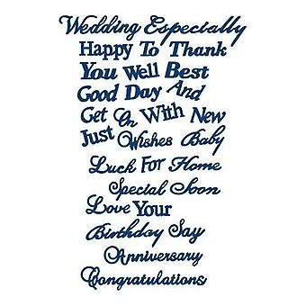 Tattered lace metal Dies All Occasion sentiments D088
