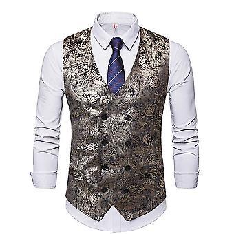 Alle Themen Men's V-Ausschnitt Floral gedruckt vier Jahreszeiten Business Casual Anzug Weste
