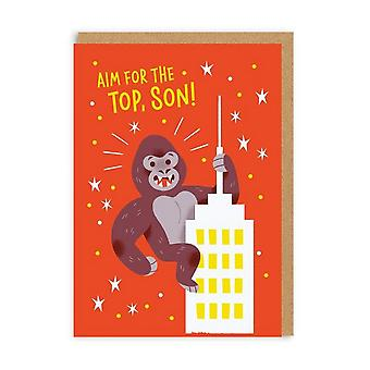 Ohh Deer Aim For The Top Son Greeting Card