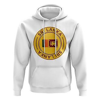 Sri Lanka Football Badge Hoodie (White)