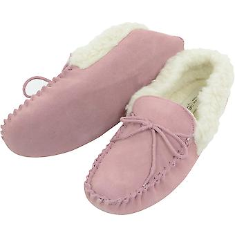 Pink Ladies Mocassin Slipper Soft Sole