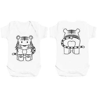 Tiger Front & Back Design Baby Bodysuit