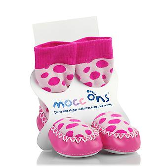 MoccOns - Moccasin Style Slipper Socks! - 6-12m