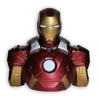 Marvel Deluxe Spardose Iron Man B³ste Material: PVC.
