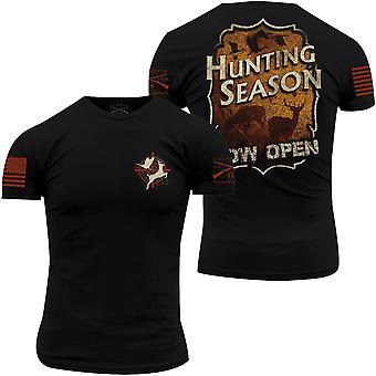 Grunt Style Vintage Hunting T-Shirt - Noir