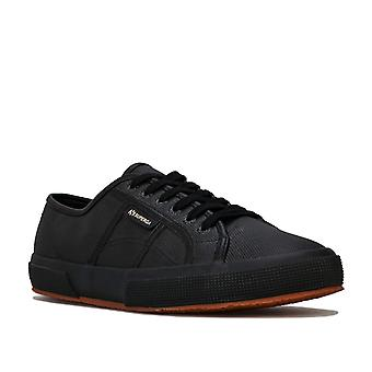 Womens Superga 2750 Classic Pumps In Black- Lace Fastening- Cushioned Insole-
