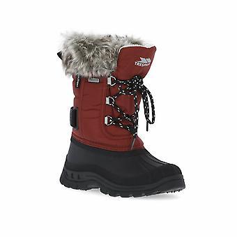 Trespass unisex Kids Lanche imiteret pels sne støvler