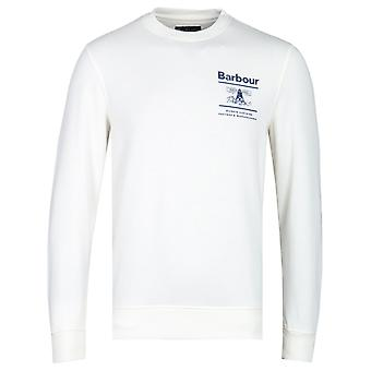 Barbour Beacon Reed Crew Neck White Sweatshirt