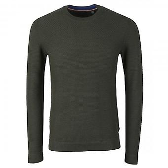 Ted Baker Percypi Textured Crew Neck Knitted Jumper Khaki