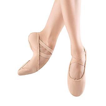 Bloch Womens PROFELX CANVAS Deri Düşük Üst Çekme Bale & Dans Ayakkabıları