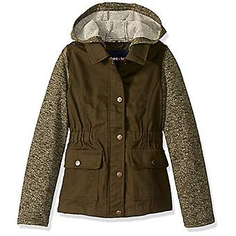 Limited Too Girls' Big Cotton Twill Jacket, Olive, 7/8