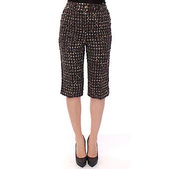 Dolce & Gabbana Multicolor Wool Shorts Pants