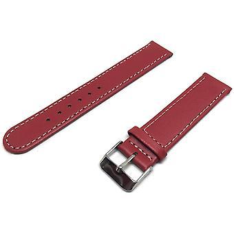 ربلة الساق الجلود ووتش حزام أحمر العجل جولة جلدية انتهت الكروم مشبك مشبك حجم 12mm إلى 18mm