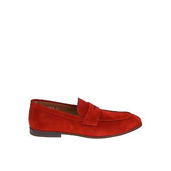 Doucal's Du1945elbauf106or00 Men's Red Suede Loafers
