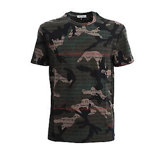 Valentino Tv3mg05i62cln8 Männer's Camouflage Baumwolle T-shirt