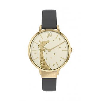 Sara Miller SA2074 Women's Gold Tone Giraffe Print Wristwatch