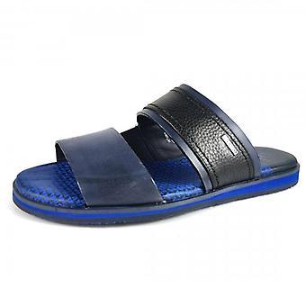 Ted Baker Farflex Leather Sandals Navy