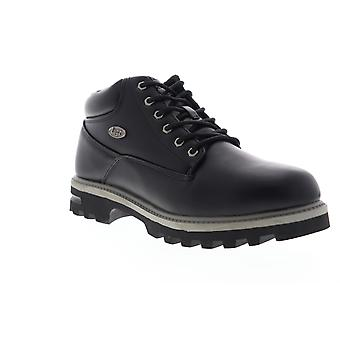 Lugz Empire WR  Mens Black Leather Lace Up Casual Dress Boots Shoes
