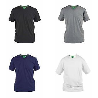 Hertig Mens D555 Kingsize signatur-1 bomull T-Shirt