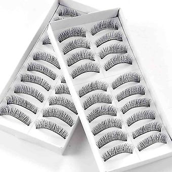 20 Pairs Of False Eyelashes For Party Or Everyday Wear - Quality Hair