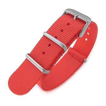 Strapcode n.a.t.o watch strap g10 military watch band nylon strap, red, sandblasted, 260mm
