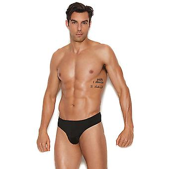 Mens Black Thong Back Underwear Brief